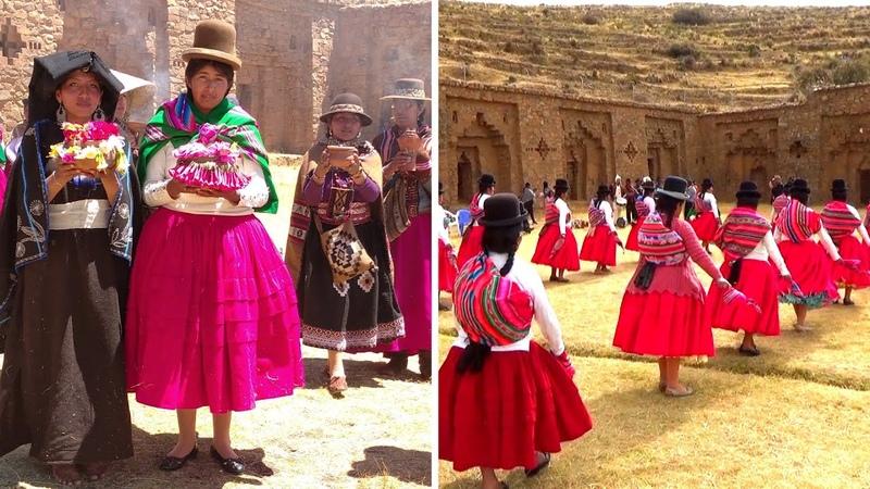 Templo de las Mujeres Vírgenes Danzas Músicas Autóctonas Isla de la LUNA 2021 Copacabana Bolivia