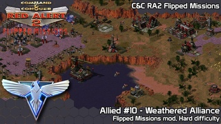 C&C Red Alert 2 Flipped Missions - Allied #10 Weathered Alliance - Hard Difficulty