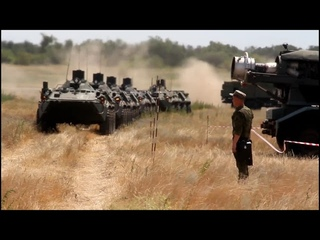 Учение с военнослужащими войск РХБЗ Южного военного округа.