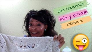 Original y divertida idea reciclando tela de encaje y un envase plástico!! Que fácil!!