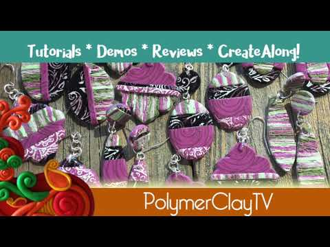 Make Mauve Patterned Polymer Clay Earrings More