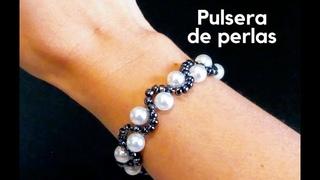 Pulsera/Pulso/Brazalete de perlas/Como hacer bisuteria paso a paso/Tutorial: Pulsera paso a paso