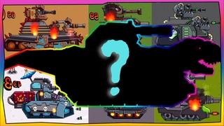 Trò chơi bắn xe tăng Quái vật - Tổng hợp trận chiến Dora | Dino Tanks | Phim hoạt hình về xe tăng