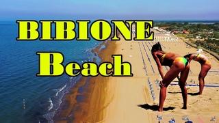 Bibione Beach 2021. Отдых на  Адриатическом Море. Пляжный волейбол в Бибионе.