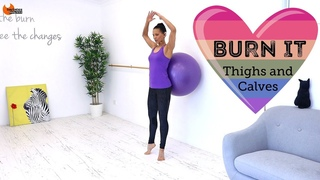 Barre Legs Workout with Fit Ball - BARLATES BODY BLITZ Burn It Thighs and Calves
