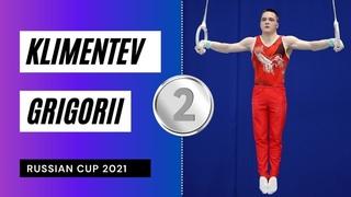 Silver medalist on Still Rings - Klimentev Grigorii. Pre Olimpic Russian Cup 2021!