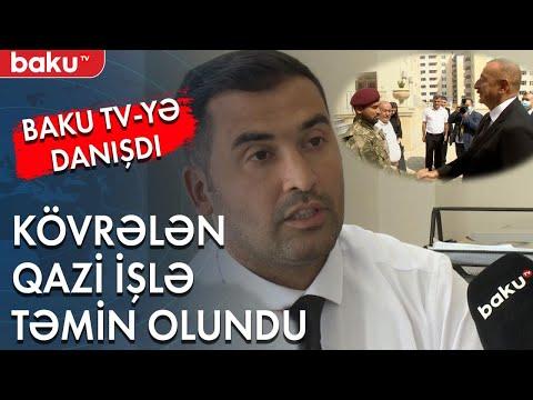 Şuşadan danışarkən kövrələn qazi işlə təmin olundu Baku TV