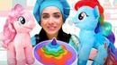 Детское видео про Май Литл Пони. Готовлю игрушкам пони вкусняшки! Игры для детей в готовку с Плей До