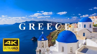 Greece 4K | Scenic Relaxation Film With Calming Music | GREECE 8K ULTRA HD HDR | Explore World 8K