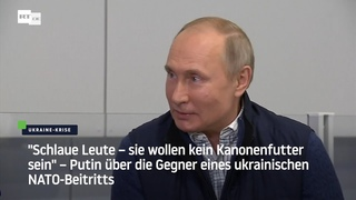 Schlaue Leute – sie wollen kein Kanonenfutter sein: Putin über Gegner von ukrainischem NATO-Beitritt
