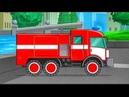 Пожарная машина Профессии для детей Машинки Мультик