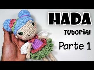 Cómo tejer HADA amigurumi Parte 1 Tutorial crochet/ganchillo - Curso manualidades en español