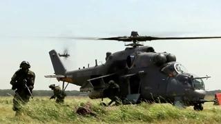Учение спецназа и летчиков армейской авиации на Кубани