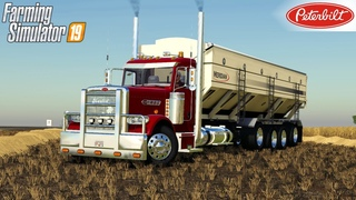 Farming Simulator 19 - PETERBILT TENDER TRUCK Picks Up The Barley From The Field