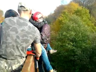 Как символично...13 прыжок...Чертов мост...Тандем!