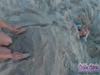 Buried In Sand Blowjob