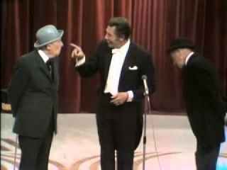 Fred Kaps performing on Dutch TV with 2 comedians Snip and Snap