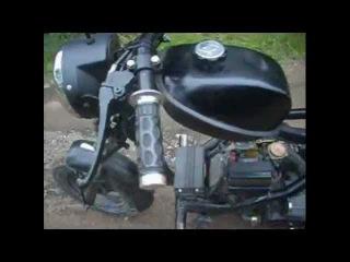 Шкет-1. Самодельный скутер (мопед)