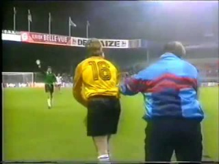 Belgium 0-2 DDR. The last game of DDR national team (1990)