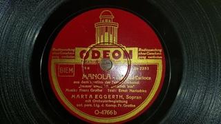 "Marta Eggerth - Manola (78 rpm) ""Odeon Records"" Germany 1938"