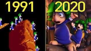 Evolution Of Lemmings Games 1991-2020