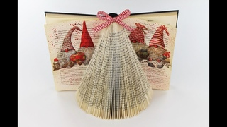 Paper christmas tree - Folding book art christmas tree - Decoupage for beginners