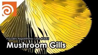 Houdini Algorithmic Live #061 - Mushroom Gills