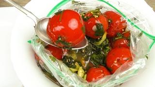 Квашеные помидоры как бочковые. В пакете за 2 дня   Pickled tomatoes as barrels