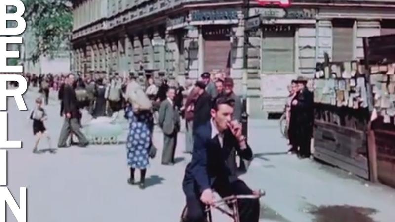 Berlin in July 1945 HD 1080p color footage