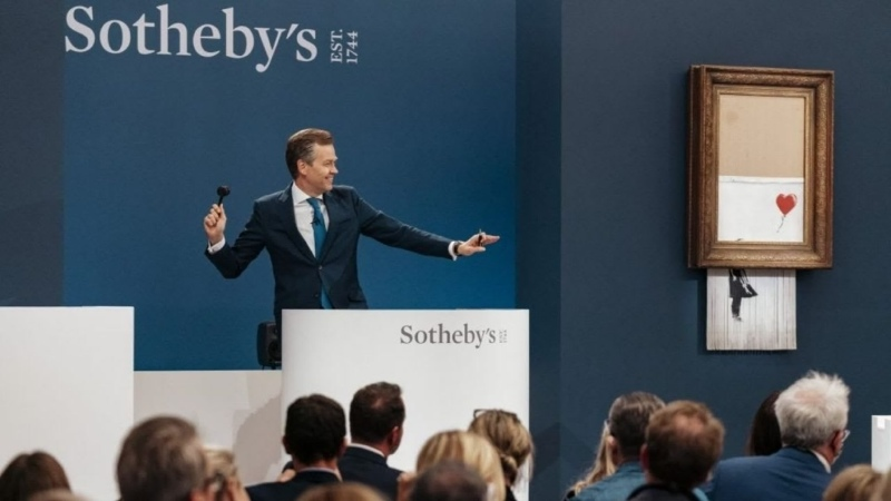 Изрезанную картину Бэнкси продали за рекордные $25 284 млн
