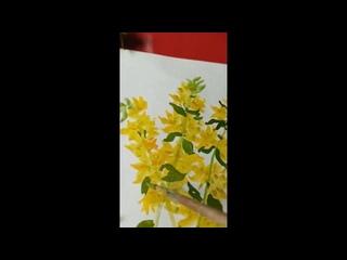 Рисуем желтые вербейники. Богданова О.И, специалист по реабилитационной работе социально-реабилитационного отделения (досугового