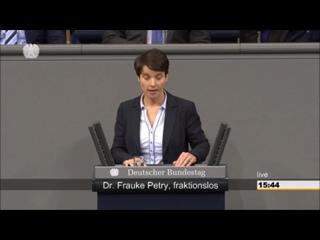 12-12-2017 - Frauke Petry --- erste Bundestagsrede und keiner klatscht --- ja warum wohl -