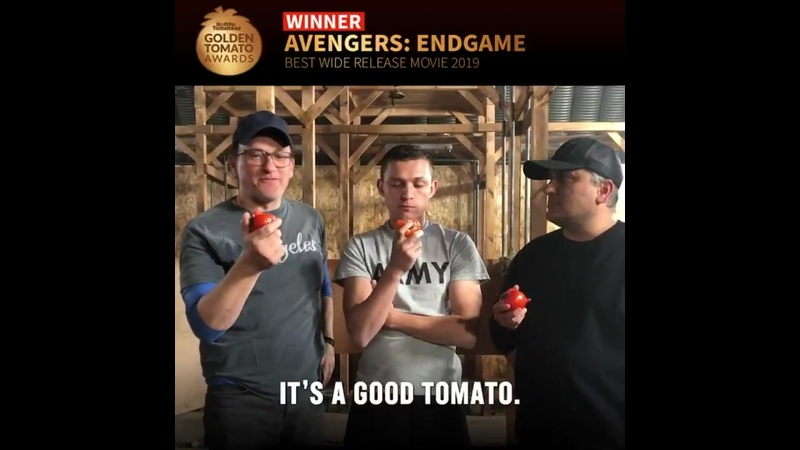@Russo Brothers and @TomHolland1996 know what's Fresh Congratulations on your Golden