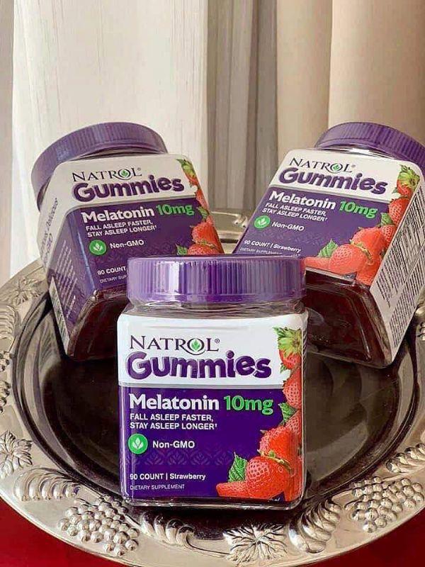 Kẹo Dẻo Mỹ Hỗ Trợ Ngủ Ngon Natrol Gummies Melatonin Mỹ 90v