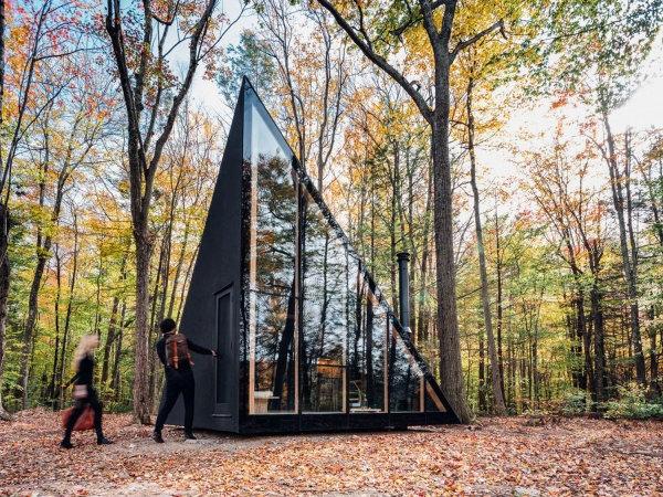 История треугольного дома-шалаша с А-образным каркасом в Америке и за ее пределами, изображение №11