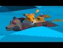 Симулятор Лисы 3 Черный и белый лис Кида. Семья лисят в Fox Family Animal Simulator на пурумчата