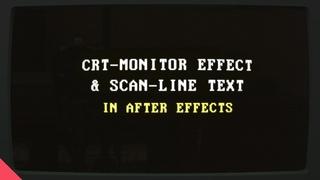 Эффект Набирающегося Текста На Старом Мониторе В AFTER EFFECTS