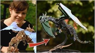 Дракон как в Игре Престолов своими руками / Черный дракон из конструктора Ugears