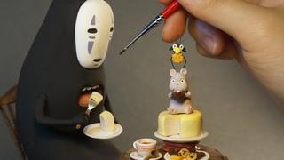 센과 치히로의 행방불명 가오나시 디오라마 클레이로 만들기_Making NoFace(Spirited Away) Diorama With Clay
